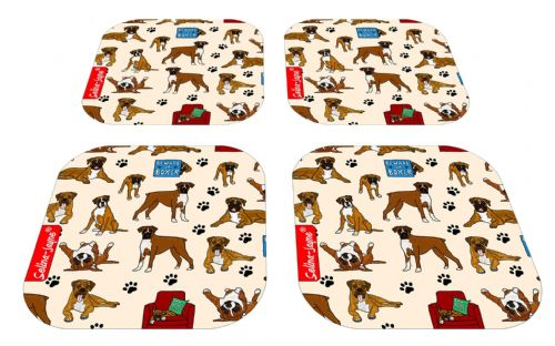 Selina-Jayne Boxer Dog Limited Edition Designer Coaster Gift Set